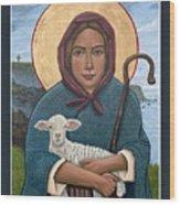 The Good Shepherdess Wood Print