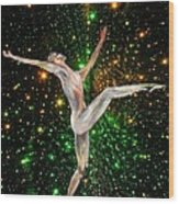 The Light Fantastic Dance and Stars Wood Print