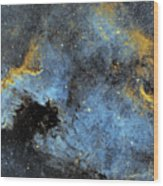 The North America Nebula Wood Print