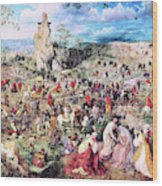 The Procession To Calvary - Digital Remastered Edition Wood Print