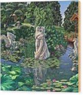 The Romance Garden Wood Print