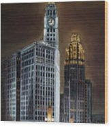 The Wrigley Building and Tribune Tower Wood Print