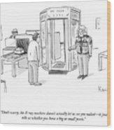 The X-ray Machine Wood Print