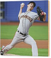 Tim Lincecum Wood Print