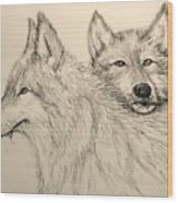 Timberwolf Wood Print