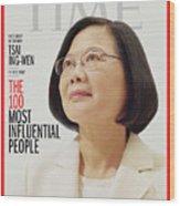 TIME 100 - Tsai Ing-Wen Wood Print