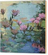 Times Between - water Lilies Wood Print