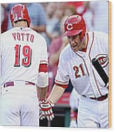 Todd Frazier and Joey Votto Wood Print