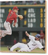 Todd Helton and Aaron Hill Wood Print