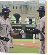 Todd Helton and Dexter Fowler Wood Print