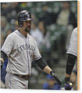 Todd Helton and Michael Cuddyer Wood Print