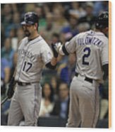 Todd Helton and Troy Tulowitzki Wood Print