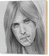 Tom Petty - Pencil Wood Print