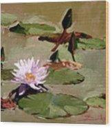 Tomorrow's Blooms- Water Lilies Wood Print