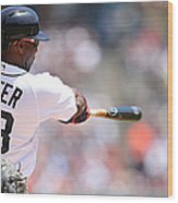 Torii Hunter Wood Print