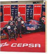 Toro Rosso F1 Launch Wood Print
