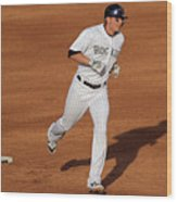 Troy Tulowitzki and Chad Billingsley Wood Print