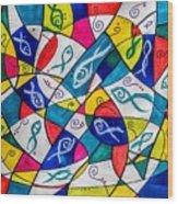 Twenty Plus Fish Triangulated Or Not Wood Print