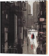 Twilight Avenue Wood Print