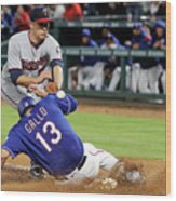 Tyler Duffey, Chris Gimenez, and Joey Gallo Wood Print