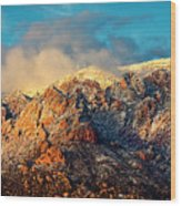 Unveiling Sandia Mountain and Crest Wood Print