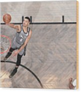 Utah Jazz v Brooklyn Nets Wood Print