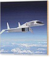 Valkyrie - Mach 3 At 70000 Feet Wood Print