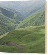Valley in the Caucasus Mountains, Khevsureti, Georgia Wood Print