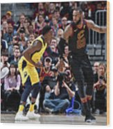 Victor Oladipo and Lebron James Wood Print