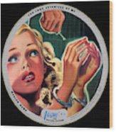Vogue Record Art - R 731 - P 105 - Square Version Wood Print
