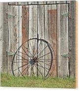 Wagon wheel - Londonderry New Hampshire Wood Print