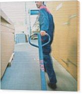 Warehouse worker Wood Print