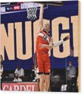 Washington Wizards v Denver Nuggets Wood Print