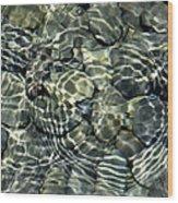 Water Rocks 2 Wood Print