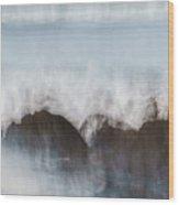 Wavecrash Wood Print