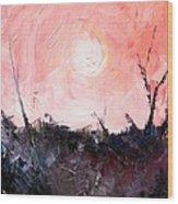White Sun Wood Print