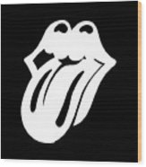 White The Rolling Stones Official Original Logo Tongue Logotype Mouth Lips Png Transparent Backgroun Wood Print