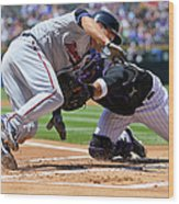Wilin Rosario and Brian Dozier Wood Print