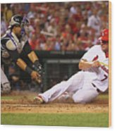 Wilin Rosario and Matt Holliday Wood Print