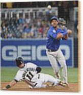 Will Middlebrooks and Starlin Castro Wood Print