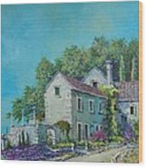 Village Vista Wood Print