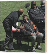 Willie Mays, Barry Bonds, And Willie Mccovey Wood Print