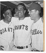 Willie Mays, Juan Marichal, and Johnny Callison Wood Print