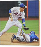 Wilmer Flores and Chris Coghlan Wood Print
