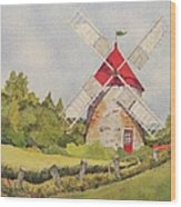 Windmill on Ile aux Coudres Quebec  Wood Print
