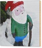 Winter Gnome Wood Print