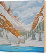 Winter on the Colorado River Wood Print
