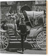 Wooden Carriage in Mexico Wood Print