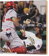 Yadier Molina and Andrew Mccutchen Wood Print