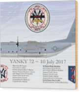 YANKY 72 - 10 July 2017 Wood Print